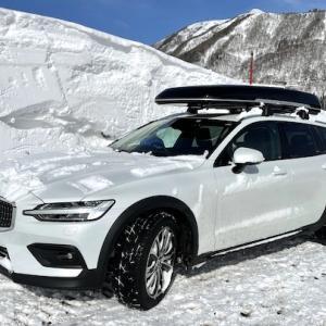 ボルボV60クロスカントリー 雪山仕様