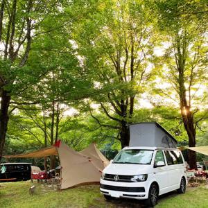涼しい!高原キャンプ VW T6 カリフォルニアビーチ