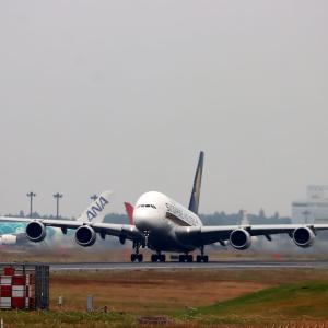 A380 シンガポールへ