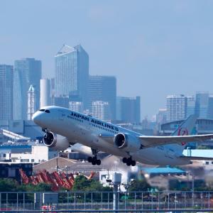 羽田 T3 〜 JAL の Dreamliner は伊丹へ