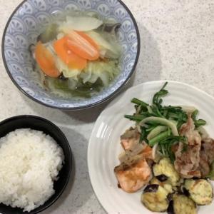 今日の夫のリモートワークのお昼ご飯