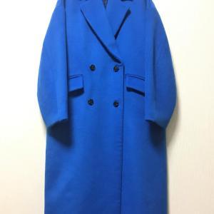 ブルーのコート届いた~