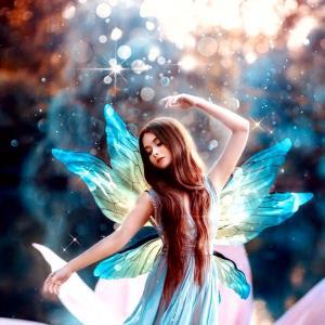 水の姫様みたい。