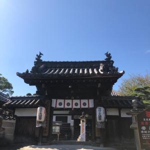 奈良・帯解寺へ長女の安産祈願