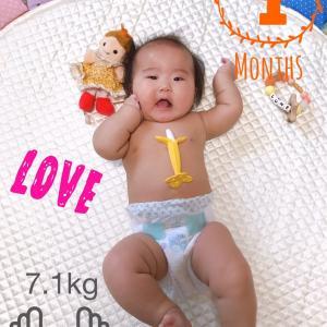 孫が4ヶ月になりました!