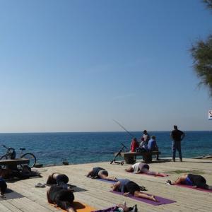 海辺の散歩道 MasnouからPremia de Mar