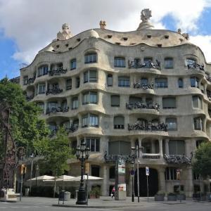 貸し切りバルセロナで、朝の散歩