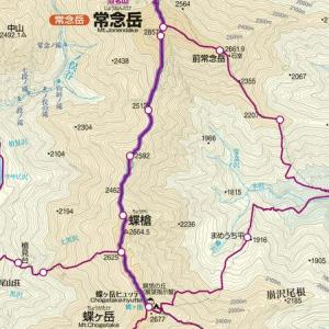 常念山脈縦走二日目は、常念岳へ向かって