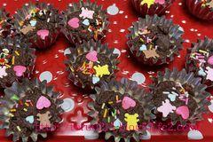 子供と手作りチョコ