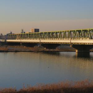 夕陽の鉄橋