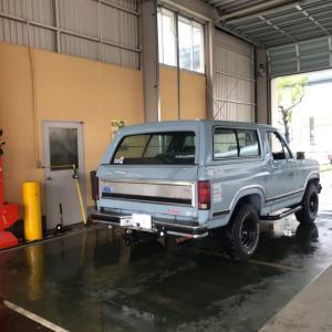 ちょっと古い フォード ブロンコ 継続検査!