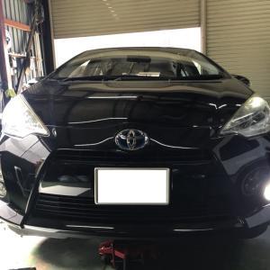 トヨタ アクア ヘッドライト点灯不良修理!