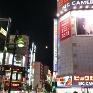 2019年11月 月齢12.2 新宿で十三夜の月