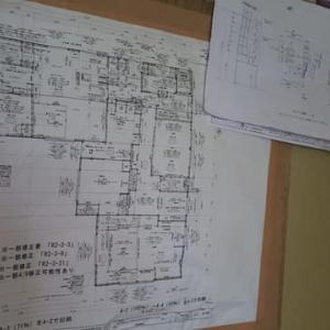 (仮称)時間の流れとルーツを豊かに感じる郊外に佇む平屋の家リノベーション工事・現場では外部、壁の工事も仕上げ段階で内部の工事も後半に、各空間の細部・設計デザインでの工夫と仕掛けも見える段階