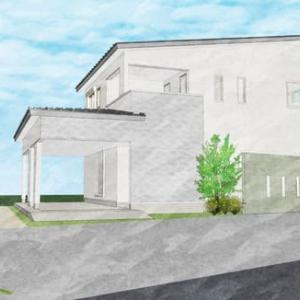 (仮称)吹抜とライブラリーが深みと上質を生み出すアッパーモダンの家・アルコープが暮らしを彩る家新築計画・設計デザイン提案にて暮らし方の空間構成、リビングを中心に丁寧に過ごす豊かさのデザインを。