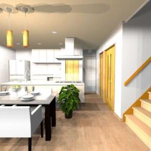 住まいのと間取りと暮らしの融合を丁寧に設計デザインの工夫で提案する様に・・・間取り単独では無くてドアの開閉や家具のレイアウト、人の移動範囲の幅やサイズ感のイメージと物理的条件、感覚と間隔。