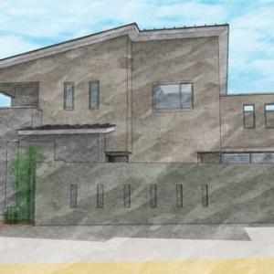 (仮称)吹抜とライブラリーが深みと上質を生み出すアッパーモダンの家・アルコープが暮らしを彩る家新築計画の途中・・・住まいの設計デザインの経過でキッチンの役割と機能性を間取りに。