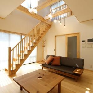 暮らしの時間が充実するように、リビングでの過ごし方の価値創造を意識するリビングアクセス階段と連動する暮らし収納計画での設計デザイン・モダンな暮らし。