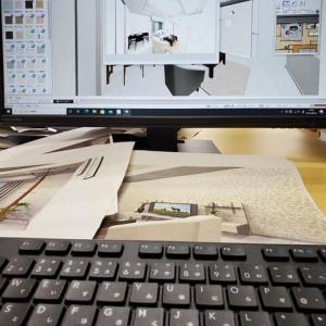 (仮称)シンプルモダンとラグジュアリーが饗宴する家新築計画・・・インテリア打ち合わせの途中にミセスルームのフェミニンホテルライクをデザイン設計の提案、印象と居心地の連動性。