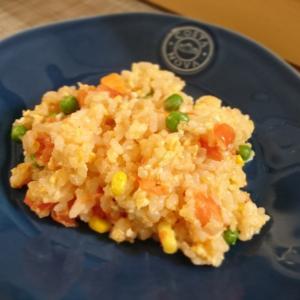 チーズリゾット風トマト炒飯。~ 今日の朝ごはん ~