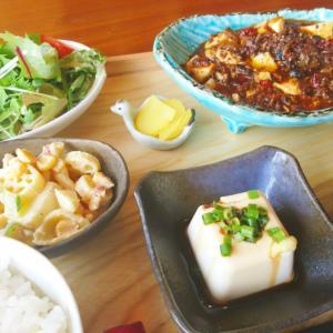 花椒の効いた「四川風麻婆豆腐定食」。