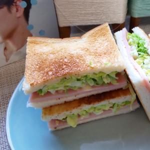 ハムとキャベツのトーストサンド。~ 土曜の朝はトーストサンドになりがち ~