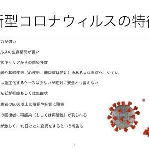 新型コロナウィルスの特徴