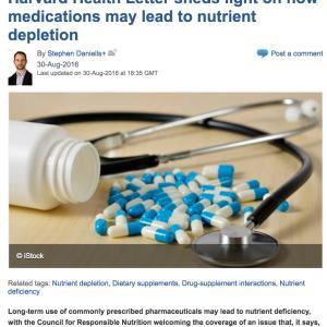 長期の薬の使用で起こる栄養不足