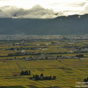 実りの会津盆地