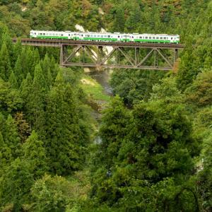 只見線  滝谷川橋梁