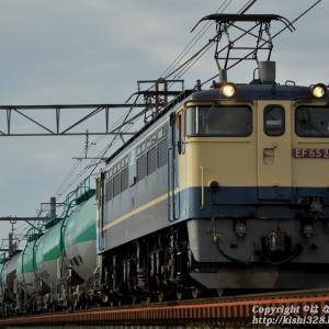 身馴川橋梁にて EF65 2074