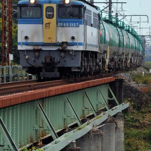 身馴川橋梁にて EF65 2127