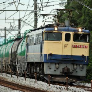EF65 2087+タキ12車 vs 1868E E231系U-586編成