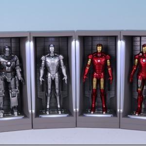ホットトイズ 【ムービー・マスターピース COMPACT】 『アイアンマン3』 ミニチュア・フィギュア ホール・オブ・アーマー (マーク1、2、3、7のみ)ミニミニレビュー