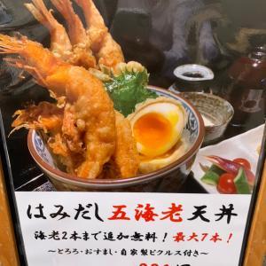 大海老7匹の天丼が800円