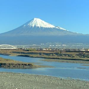 仕事の合間にin TOKYO⑤新幹線から眺める富士山♪
