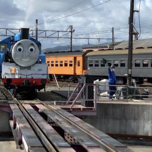 トーマスの旅③新金谷駅「トーマス整備工場」