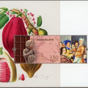お菓子の切手:国王が愛した新大陸からもたらされたチョコレート