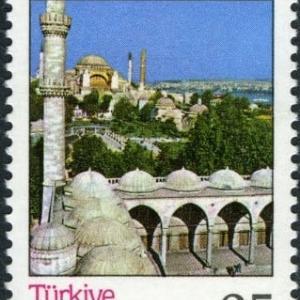 世界遺産のアヤソフィア、モスクに