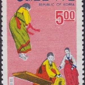 切手に見るソウルと韓国:民俗切手シリーズ