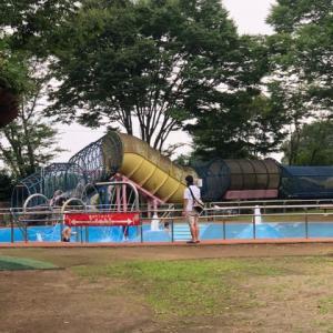 雨間をぬって、公園へ。