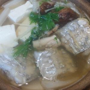 太刀魚料理シンプル鍋…
