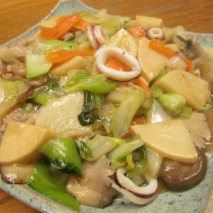 【旨魚料理】ヤリイカ八宝菜