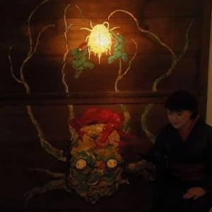 妖怪絵師、柳生忠平さんの個展にて、 怪談 「ろくろ首」 の思い出