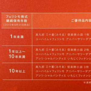 フェリシモ 株主優待 2019年8月権利分