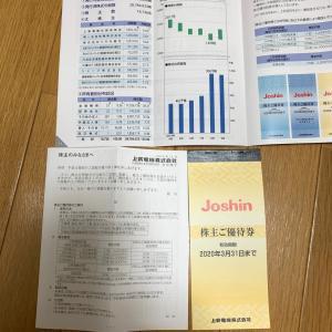 上新電機 株主優待 201909権利分