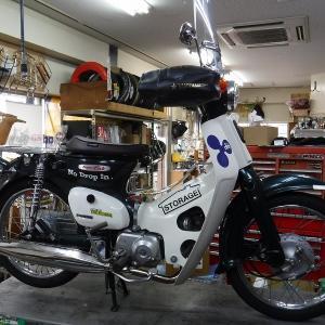スーパーカブ90DX 105cc4速エンジン換装。