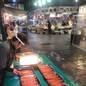 土曜日なのに人が居ない近江町市場
