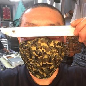 手作りマスク頂きました