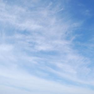 絡まる雲(巻雲)